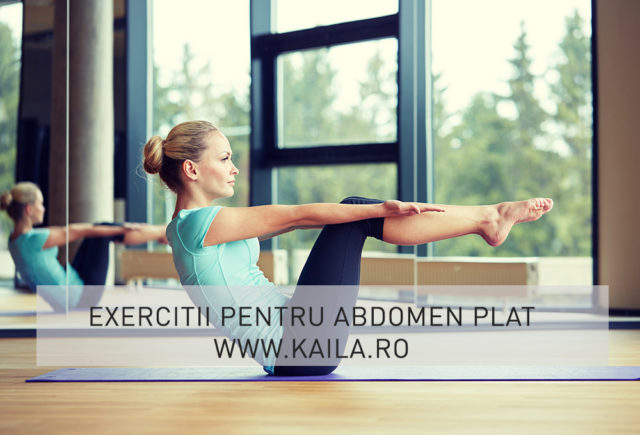 exercitii pentru abdomen plat