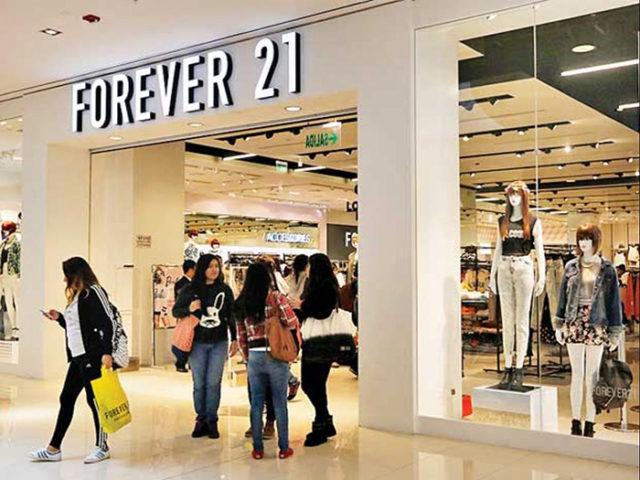 forever 21 faliment